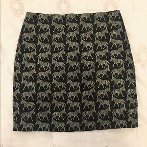 J Crew zebra skirt